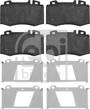 Febi Bilstein 16454 - Тормозные колодки, дисковые car-mod.com