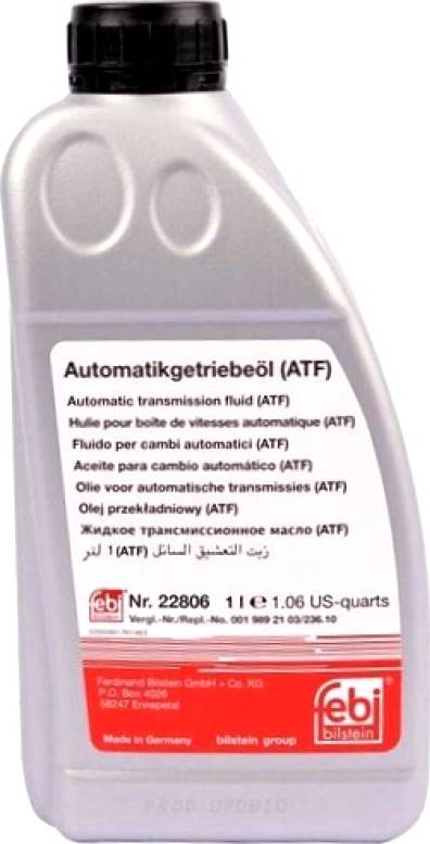 Febi Bilstein 22806 - Масло автоматической коробки передач autodnr.net