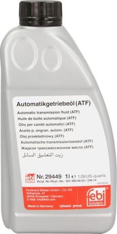 Febi Bilstein 29449 - Масло автоматической коробки передач autodnr.net