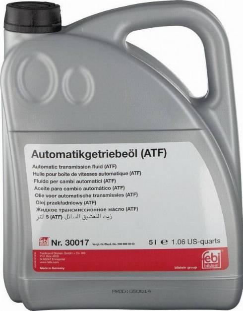 Febi Bilstein 30017 - Масло рулевого механизма с усилителем autodnr.net