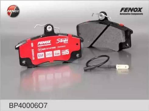 Fenox BP40006O7 - Комплект тормозных колодок, дисковый тормоз autodnr.net