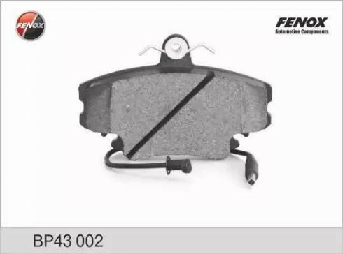 Fenox BP43002 - Комплект тормозных колодок, дисковый тормоз autodnr.net
