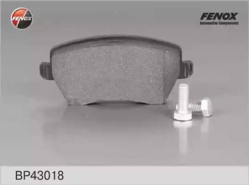 Fenox BP43018 - Комплект тормозных колодок, дисковый тормоз autodnr.net