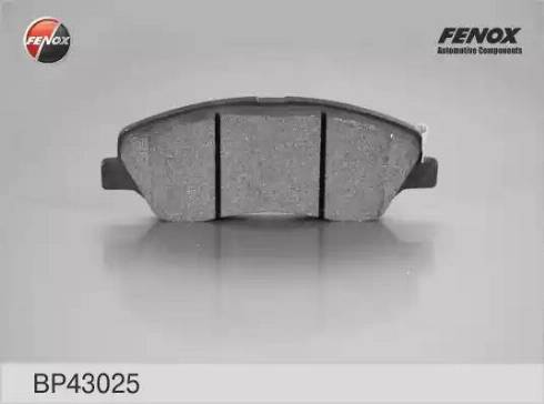 Fenox BP43025 - Комплект тормозных колодок, дисковый тормоз autodnr.net