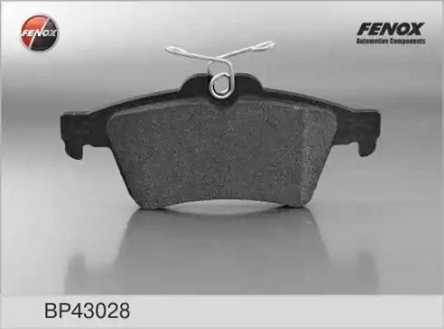 Fenox BP43028 - Комплект тормозных колодок, дисковый тормоз autodnr.net