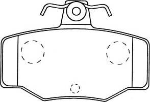 Fenox BP43033 - Комплект тормозных колодок, дисковый тормоз autodnr.net