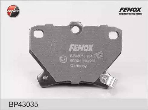 Fenox BP43035 - Комплект тормозных колодок, дисковый тормоз autodnr.net