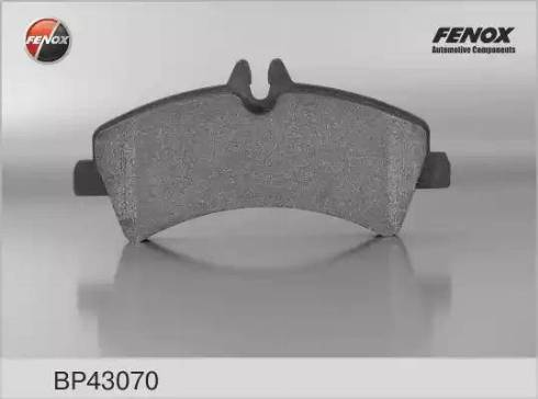 Fenox BP43070 - Комплект тормозных колодок, дисковый тормоз autodnr.net
