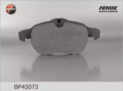 Fenox BP43073 - Комплект тормозных колодок, дисковый тормоз autodnr.net