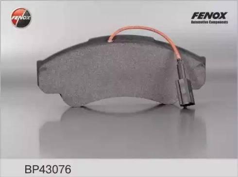Fenox BP43076 - Комплект тормозных колодок, дисковый тормоз autodnr.net