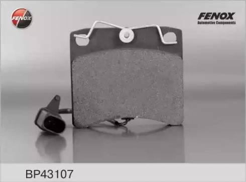 Fenox BP43107 - Комплект тормозных колодок, дисковый тормоз autodnr.net
