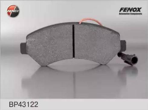 Fenox BP43122 - Тормозные колодки, дисковые car-mod.com