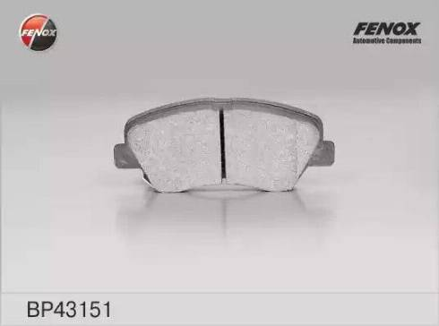 Fenox BP43151 - Тормозные колодки, дисковые car-mod.com