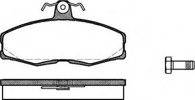 Fenox BP43155 - Комплект тормозных колодок, дисковый тормоз autodnr.net