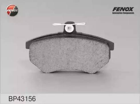 Fenox BP43156 - Комплект тормозных колодок, дисковый тормоз autodnr.net