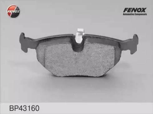 Fenox BP43160 - Тормозные колодки, дисковые car-mod.com