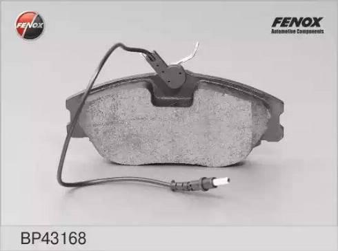 Fenox BP43168 - Комплект тормозных колодок, дисковый тормоз autodnr.net