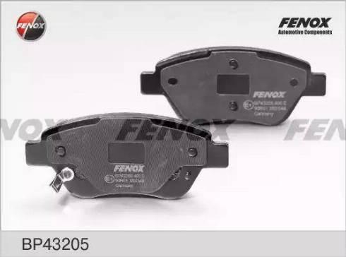 Fenox BP43205 - Комплект тормозных колодок, дисковый тормоз autodnr.net