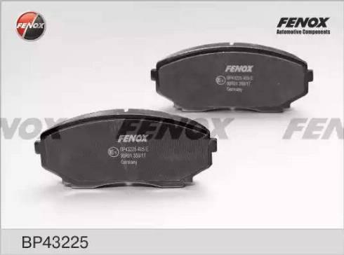 Fenox BP43225 - Комплект тормозных колодок, дисковый тормоз autodnr.net