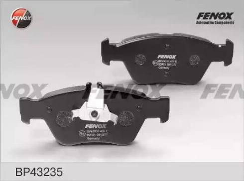 Fenox BP43235 - Комплект тормозных колодок, дисковый тормоз autodnr.net