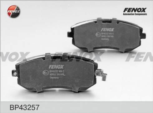 Fenox BP43257 - Тормозные колодки, дисковые car-mod.com