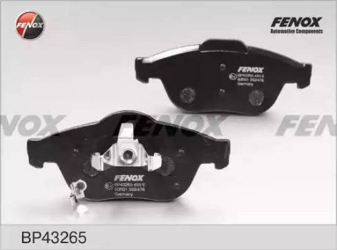 Fenox BP43265 - Комплект тормозных колодок, дисковый тормоз autodnr.net