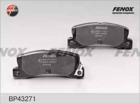 Fenox BP43271 - Комплект тормозных колодок, дисковый тормоз autodnr.net