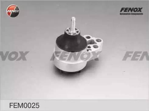 Fenox FEM0025 - Підвіска, двигун autocars.com.ua