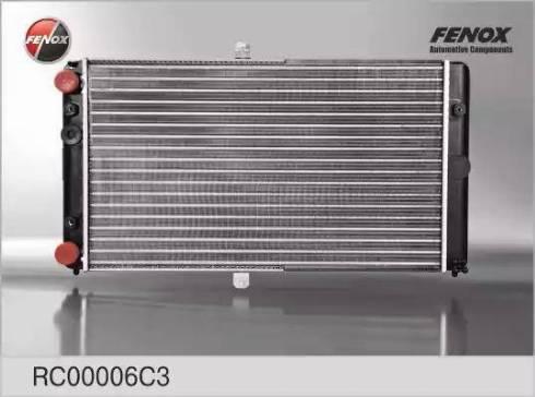Fenox rc00006c3 - Радиатор, охлаждение двигателя autodnr.net