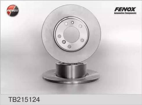 Fenox TB215124 - Тормозной диск autodnr.net