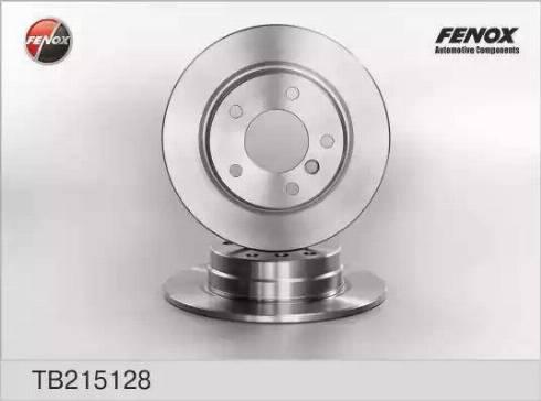 Fenox TB215128 - Тормозной диск autodnr.net