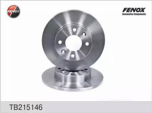 Fenox TB215146 - Тормозной диск autodnr.net