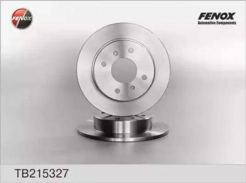 Fenox TB215327 - Тормозной диск autodnr.net