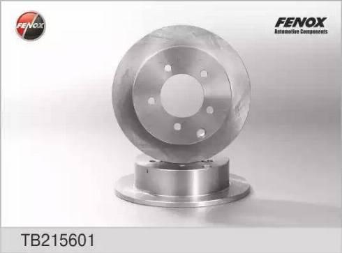 Fenox TB215601 - Тормозной диск autodnr.net