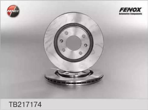 Fenox TB217174 - Тормозной диск autodnr.net