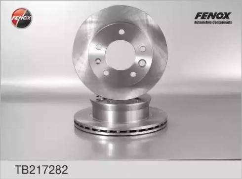 Fenox TB217282 - Тормозной диск autodnr.net
