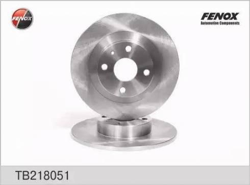 Fenox TB218051 - Тормозной диск autodnr.net