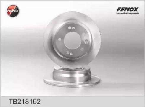 Fenox TB218162 - Тормозной диск autodnr.net