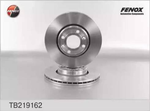 Fenox TB219162 - Тормозной диск autodnr.net