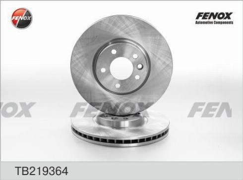 Fenox TB219364 - Тормозной диск autodnr.net