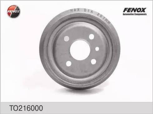 Fenox TO216000 - Тормозной барабан autodnr.net