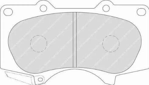 Ferodo FDB1698 - Тормозные колодки, дисковые car-mod.com
