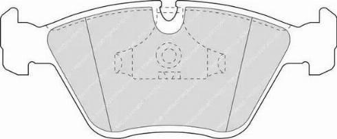 Ferodo FDB779 - Комплект тормозных колодок, дисковый тормоз autodnr.net
