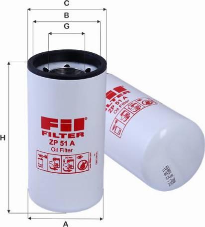 FIL Filter ZP 51 A - Масляний фільтр autocars.com.ua