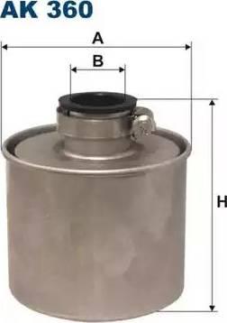 Filtron AK360 - Воздушный фильтр, компрессор - подсос воздуха avtokuzovplus.com.ua