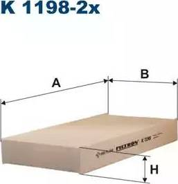 Filtron K1198-2x - Фильтр воздуха в салоне car-mod.com