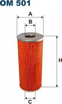 Filtron OM501 - Фильтр, Гидравлическая система привода рабочего оборудования avtokuzovplus.com.ua