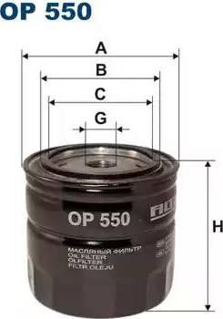 Filtron OP550 - Фильтр, Гидравлическая система привода рабочего оборудования avtokuzovplus.com.ua