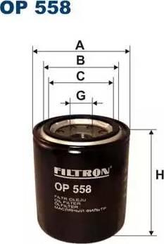 Filtron OP558 - Масляний фільтр autocars.com.ua