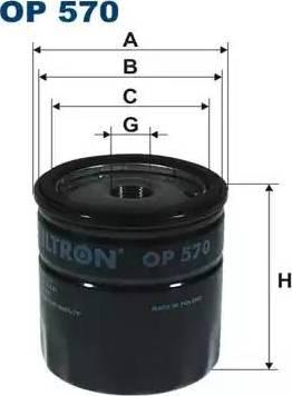 Filtron OP570 - Масляный фильтр autodnr.net